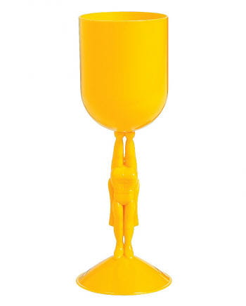 Superheroes cup yellow