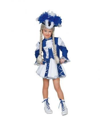 Tanzmariechen Kinderkostüm blau/weiß