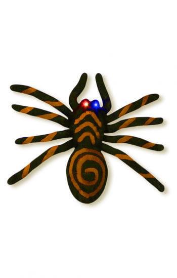 Orange spider with blinking LED eyes