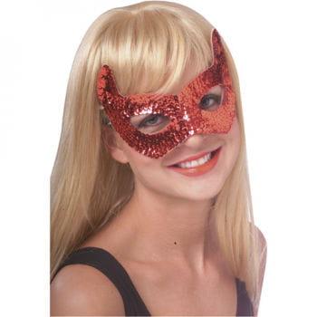 Teufel Augenmaske mit Pailletten