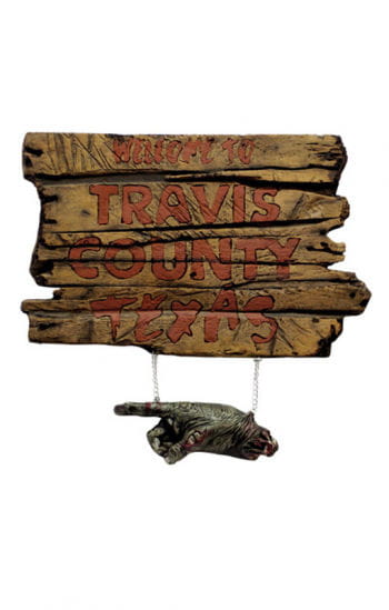 Texas Chainsaw Massacre Schild