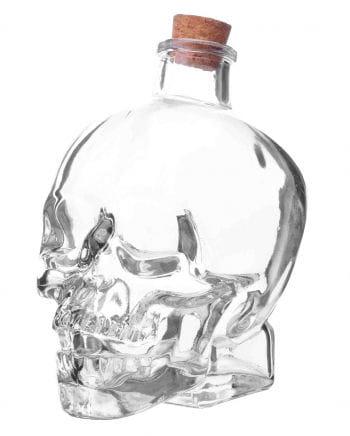 Totenkopf Glasflasche mit Korken