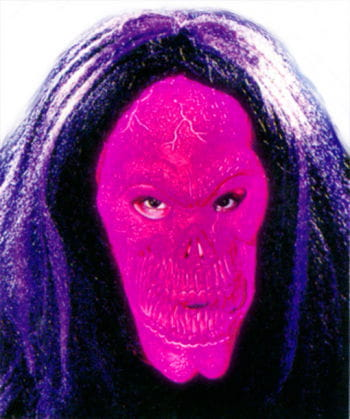Skull Mask Neon with Hair