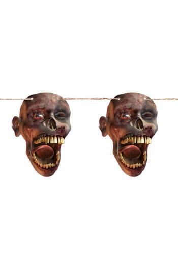 Zombiekopf Wimpelkette