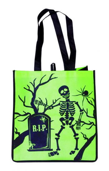 Trick or Treat Stofftasche  mit Skelett
