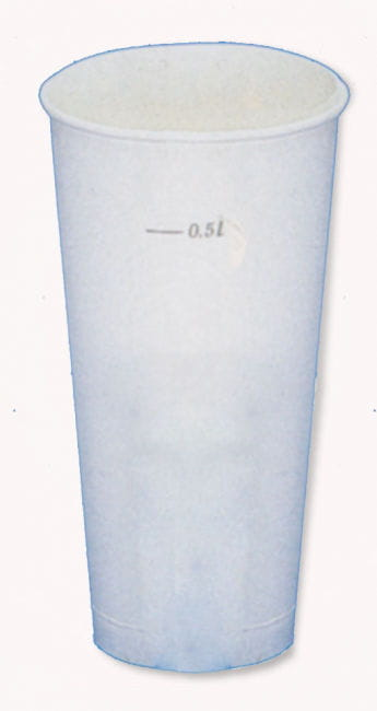 Papp-Trinkbecher 0,5l 50 St. Weiß