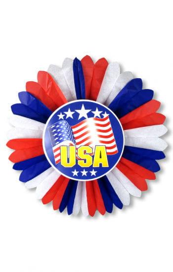 USA Rosette mit Sternenbanner Motiv