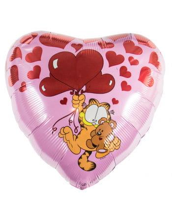 Foil balloon Valentinsherz with Garfield