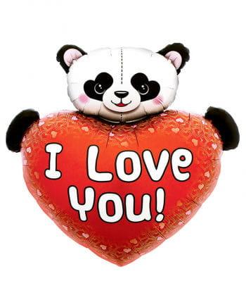 Foil balloon heart shape with Panda