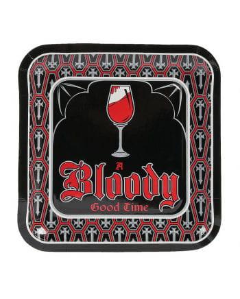 Vampir Party Pappteller 8 St.