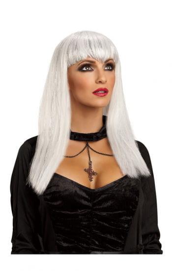 Vampiress Glitter Wig White