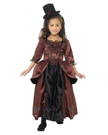 Vampir Prinzessin Kinderkostüm mit Hut