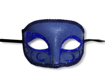 Venetian eye mask blue