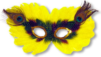 Venetian Eye Mask Yellow