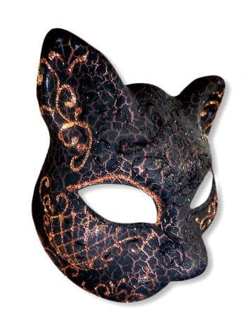 Venezianische Katzenmaske kupfer