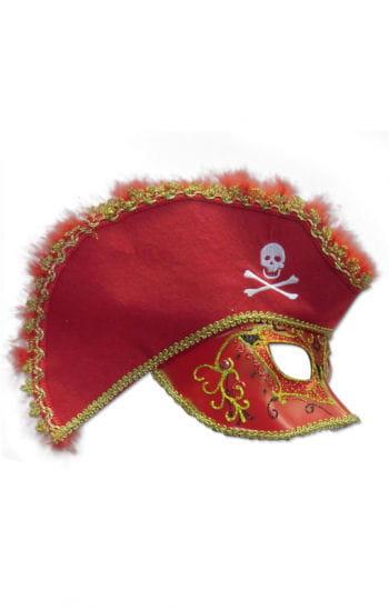 Venezianische Piraten Maske rot