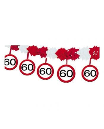 Girlande Verkehrsschild 60