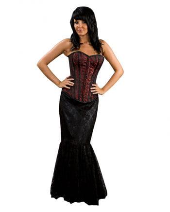 Victorian gored skirt black
