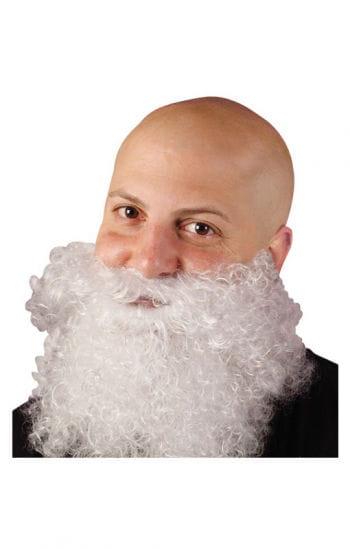 Curly Full Beard White