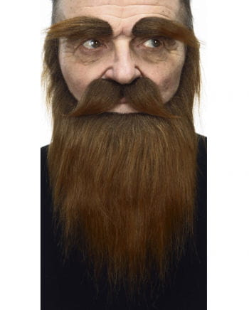 Beard with mustache and eyebrows Brown