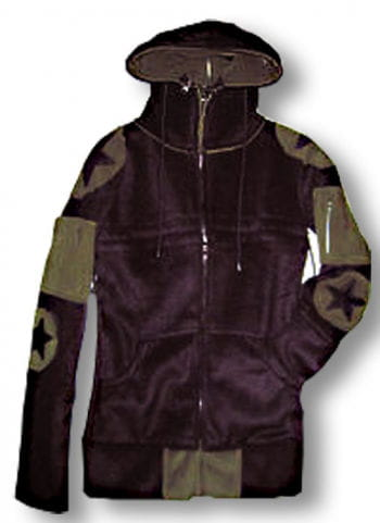 Convertible hooded fleece jacket ladies L / 40