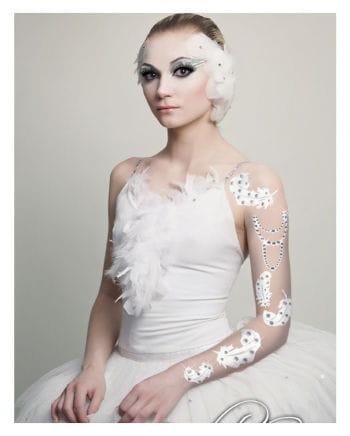 Body Art Tattoo Weiße Federn