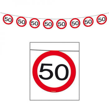 Bunting Road Sign 50