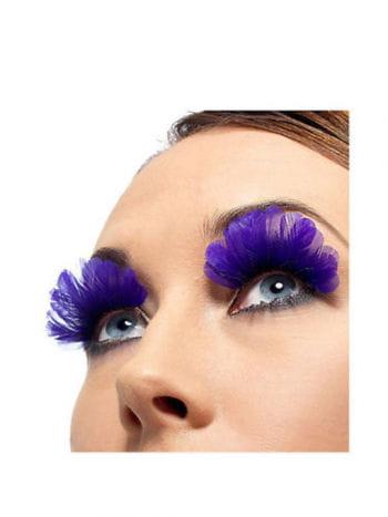 Feder Wimpern violett