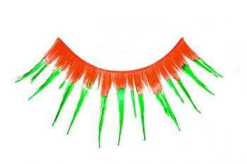 Eyelashes Orange Green