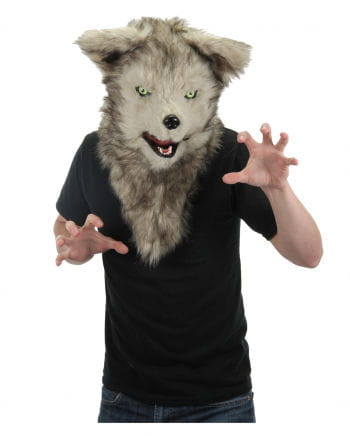 Wolf mask with movable jaw