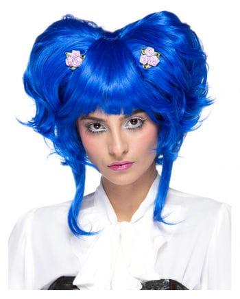 Damenperücke Yuki blue