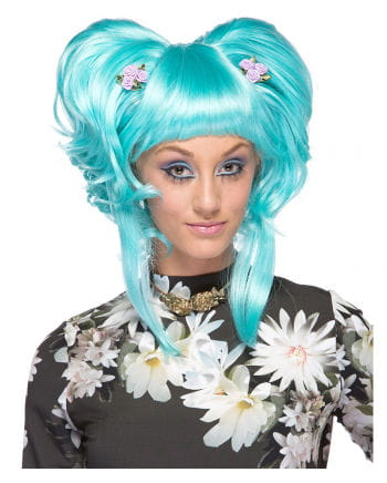 Damen Perücke Yuki hellblau