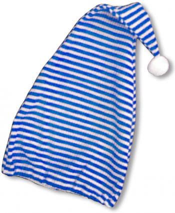Pointy Hat Blue / White