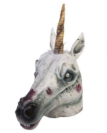 Zombie unicorn latex mask