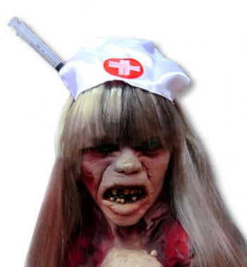Zombie Nurse Hat with Syringe