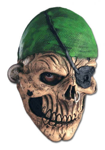 Zombie Piraten Latex Maske