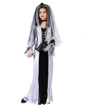 Zombie Braut Kinderkostüm Large