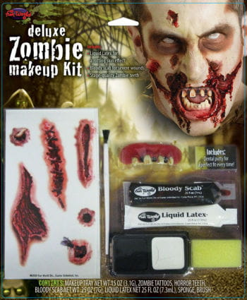 Zombie Make-up Kit Deluxe