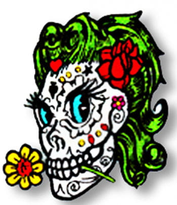 Sugar doll Skull Patches