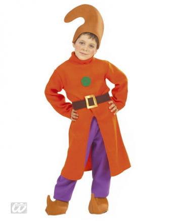 Zwerge Kostüm mit orangem Mantel