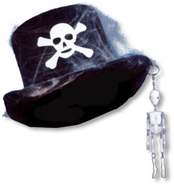 Top Hat with Skeleton and Cobwebs