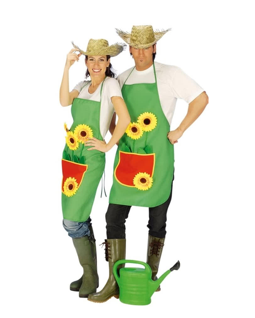 gardener 39 s apron with sunflower funny partner costume horror. Black Bedroom Furniture Sets. Home Design Ideas