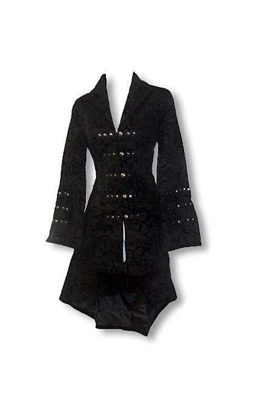 Gothic and rockabilly coat with flock print xl gothic - Rockabilly mantel ...