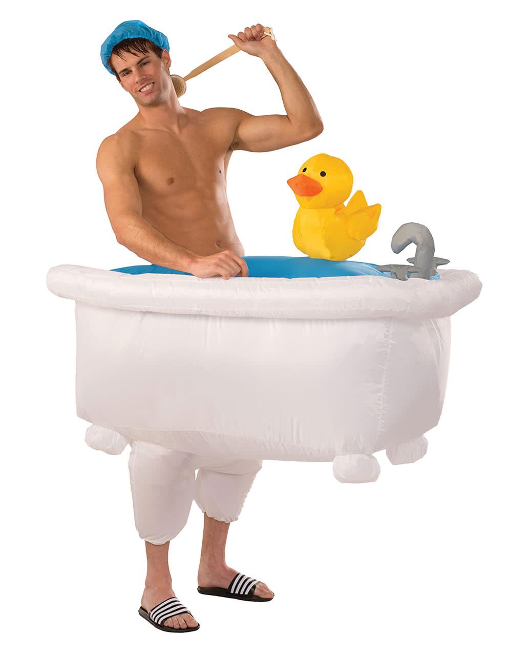 aufblasbare badewanne kost m lustige faschingskost me kaufen horror. Black Bedroom Furniture Sets. Home Design Ideas