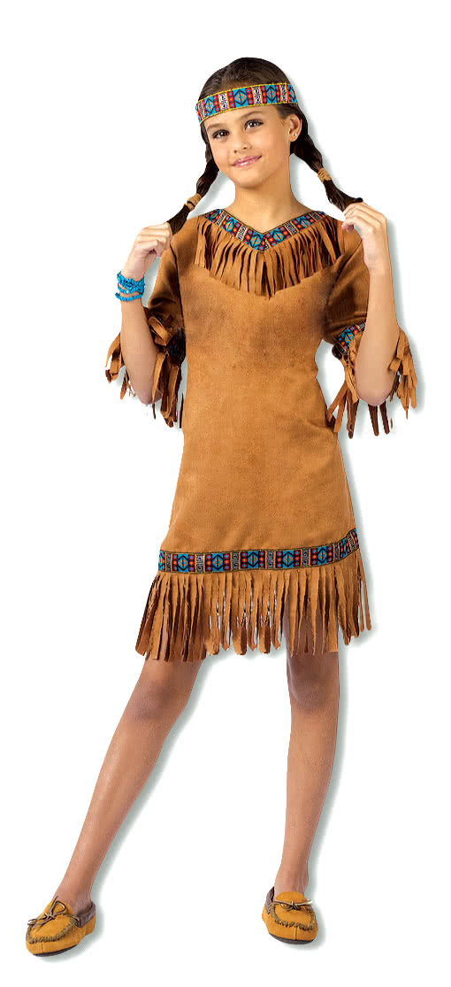 Little Squaw Costume Indian Kids Horror