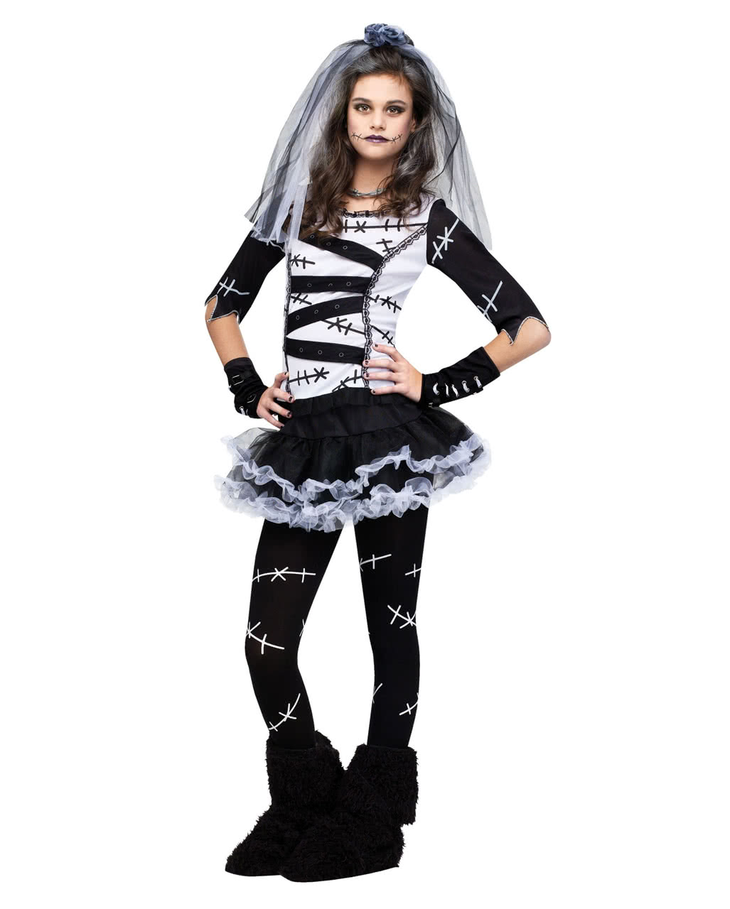 monster bride teen costume costume as a future wife of frankenstein s monster horror. Black Bedroom Furniture Sets. Home Design Ideas