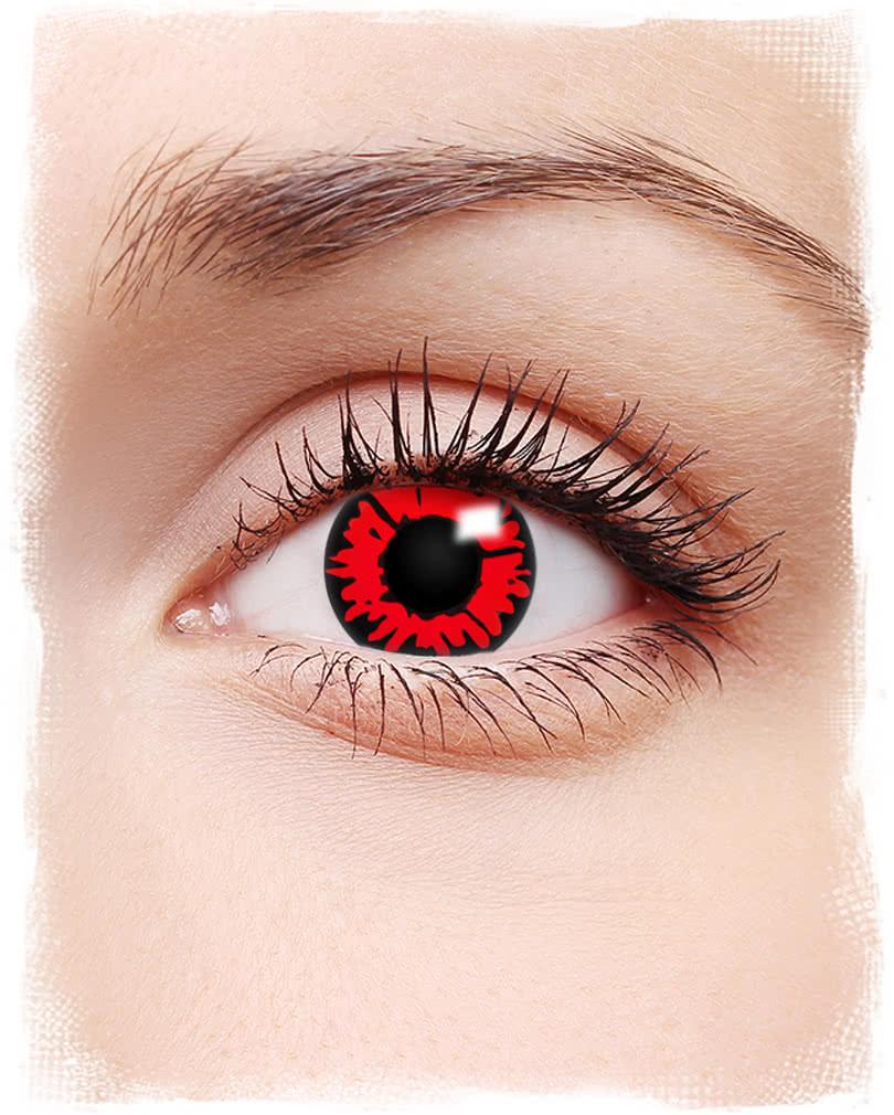 kontaktlinsen feuerauge schwarz rote motivlinsen. Black Bedroom Furniture Sets. Home Design Ideas
