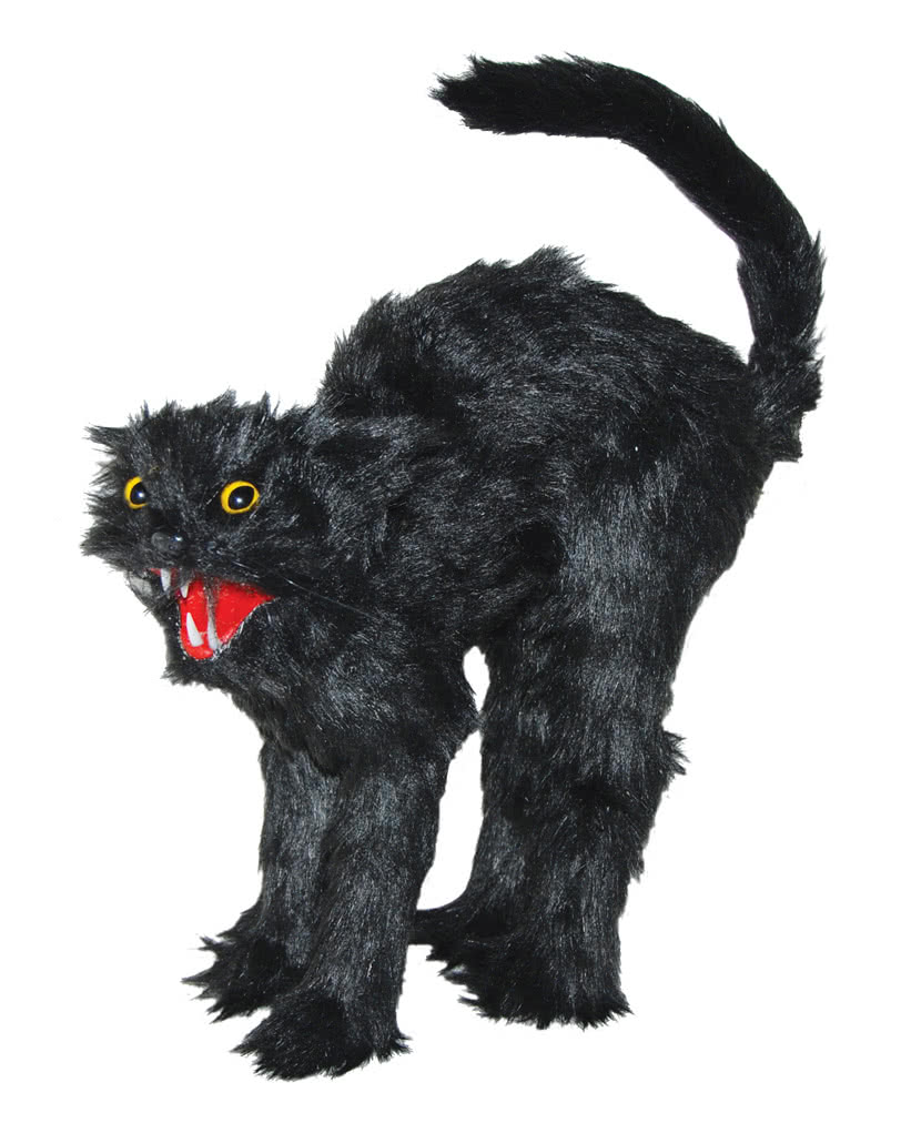 halloween figur schwarze katze als halloween deko horror. Black Bedroom Furniture Sets. Home Design Ideas