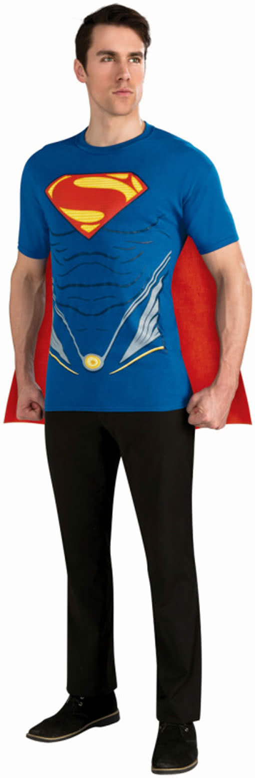 Superman T Shirt Mit Umhang Superhelden Kostm Horror