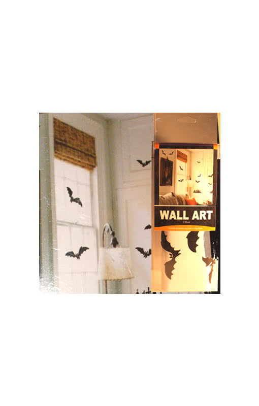 bat and cemetery wall stickers black scary sticker. Black Bedroom Furniture Sets. Home Design Ideas
